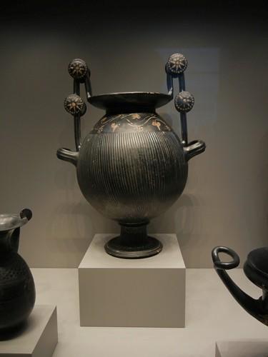 DSCN7262 _ Fluted Ritual Vessel, Greek, c 300 B.C., Getty Villa, July 2013