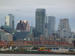 Distant Toronto skyline, viewed from the Port Lands, 2013 10 05 (18)