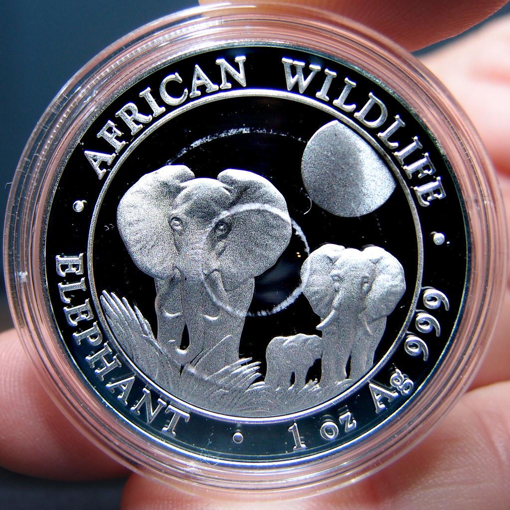 """Colección de onzas de plata """"Somalian African Wildlife""""  10275788224_121957afa3_b"""