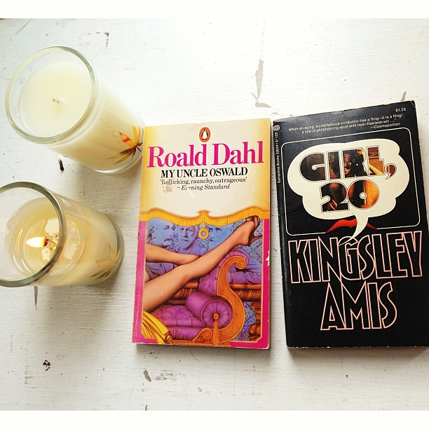 #twosday : Two books that should be made into movies, and two #CocoNuit candles. #RoaldDahl #KingsleyAmis #warymeyerscandles