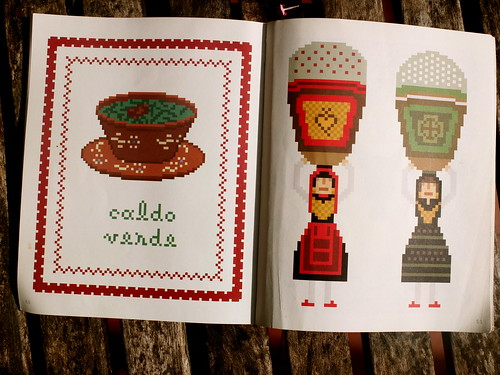 Portuguese cross stitch motifs inspired by Minho's culture