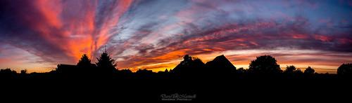 Sunset sur Plélan - version ombres chinoises