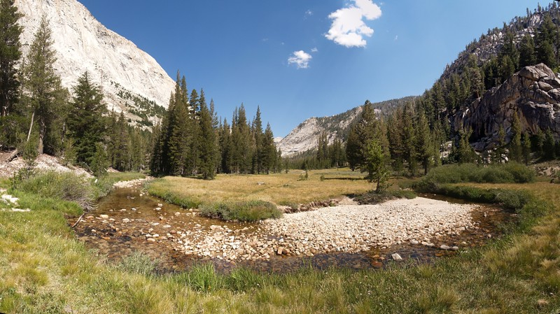 Matterhorn Creek meandering in the meadow