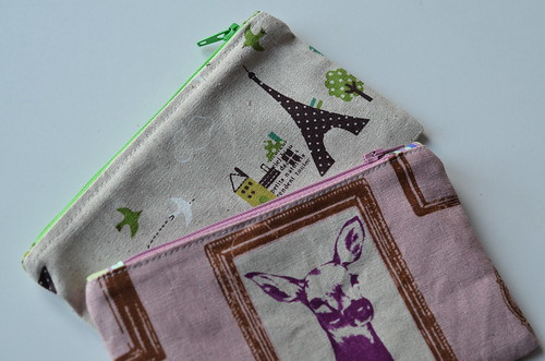 linen pouches by Poppyprint