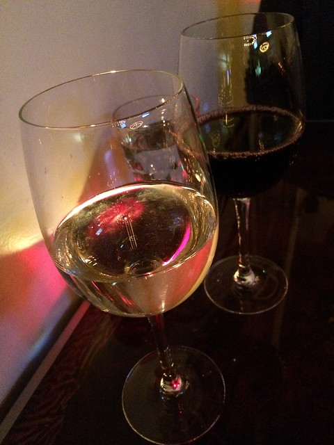 Chardonnay and cabernet wines - Hutch Bar & Kitchen