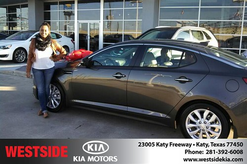 Thank you to Annjeannette  Thurman on your new 2014 #Kia #Optima from Gil Guzman and everyone at Westside Kia! #NewCarSmell by Westside KIA
