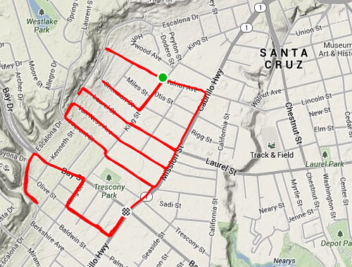 Strava Art: Happy New Year 2014