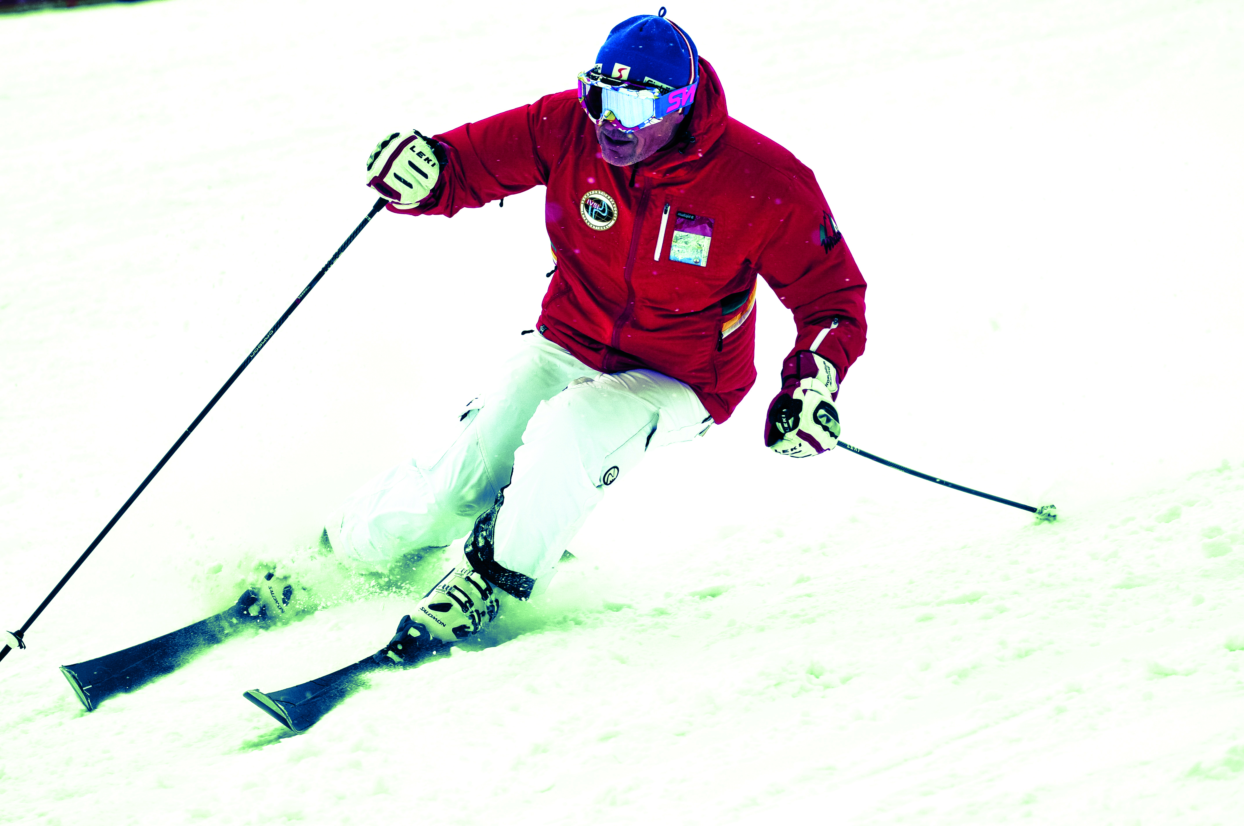 Test slalomových lyží