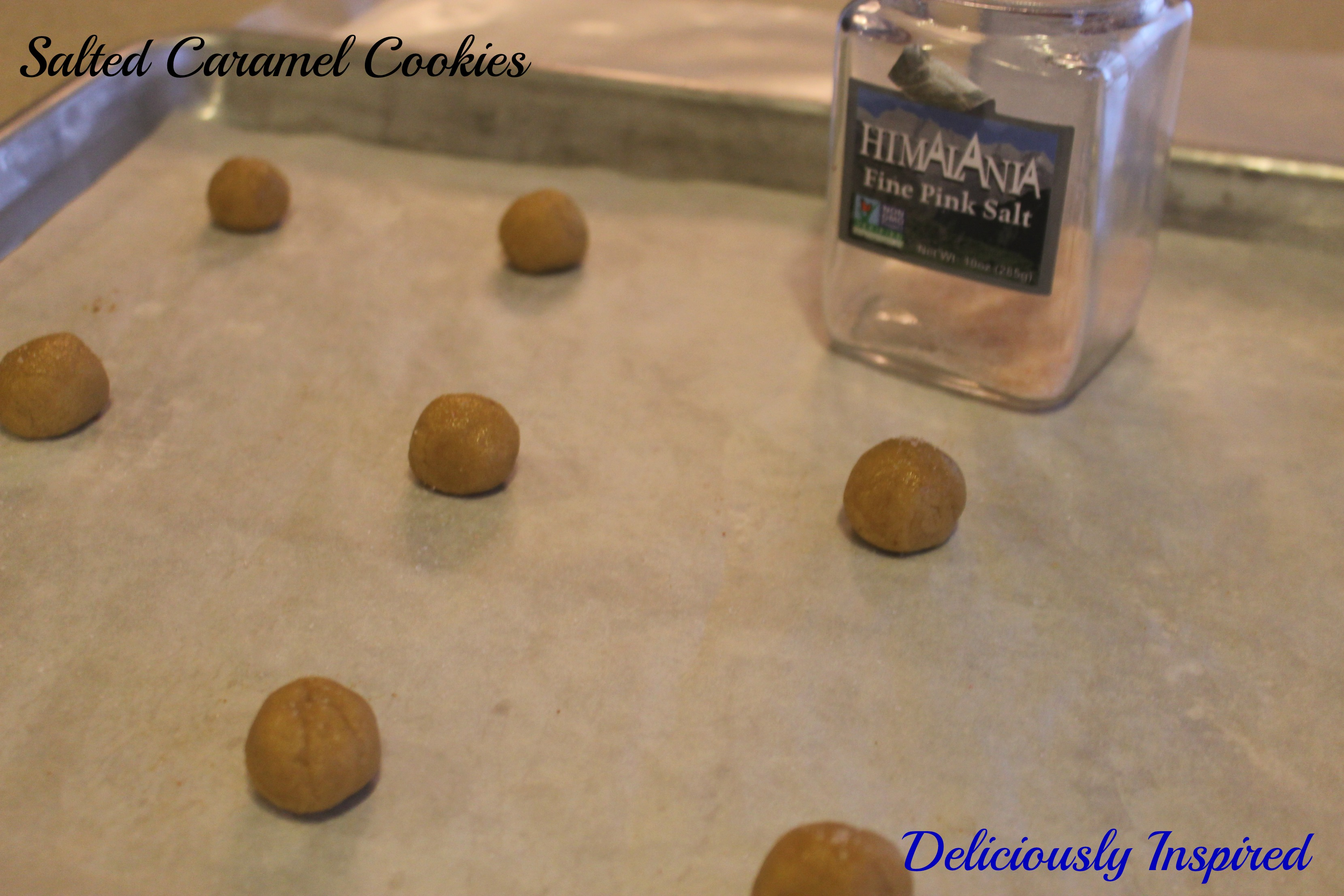 Salted Caramel Cookies - ready to bake