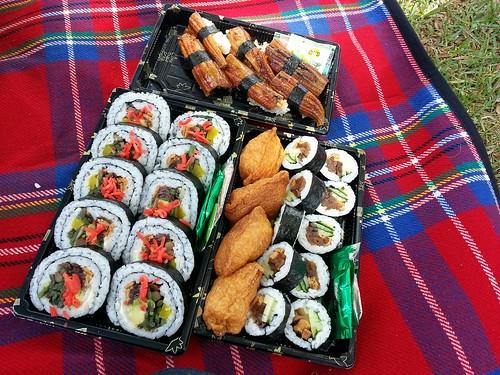 Suzuran sushi picnic at Central Park, Hawthorn
