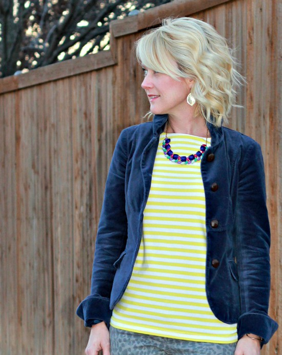 Hi Sugarplum | {Outfit Inspiration} Cobalt & Yellow