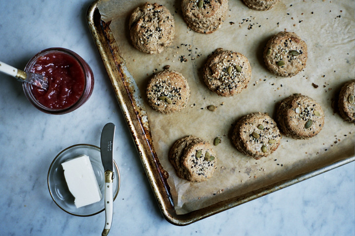 whole grain scones with tahini (yossy arefi)