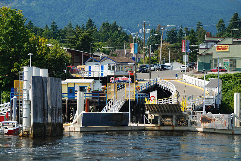 Chemainus Ferry Terminal, Chemainus, Cowichan Valley, Vancouver Island, British Columbia, Canada