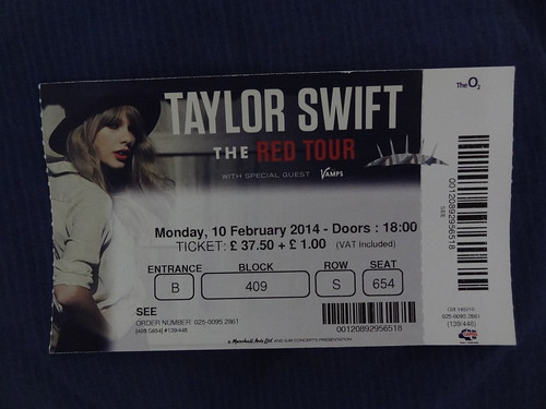 Taylor Swift at the London O2 Arena with Rosa - the RED tour