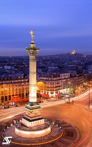 Sacré Coeur et Place de la Bastille