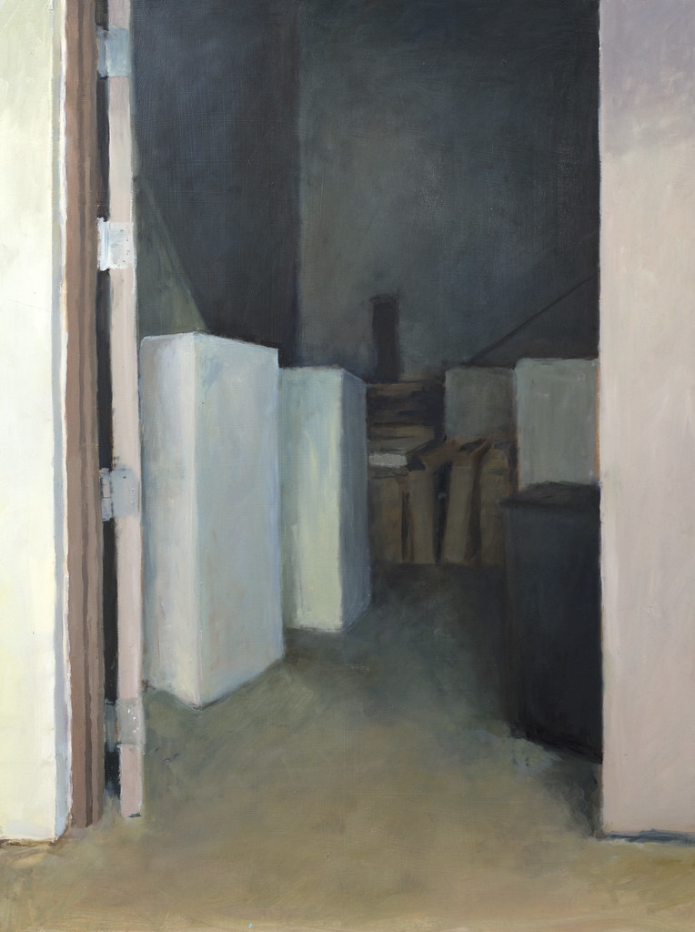 "Thomas Wagster Interior Study 24"" x 32"" Oil Paint 2012"