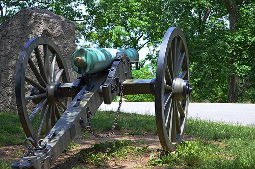 Culp's Hill ... One of Many Cannons at the Top, Gettysburg, Pennsylvania USA