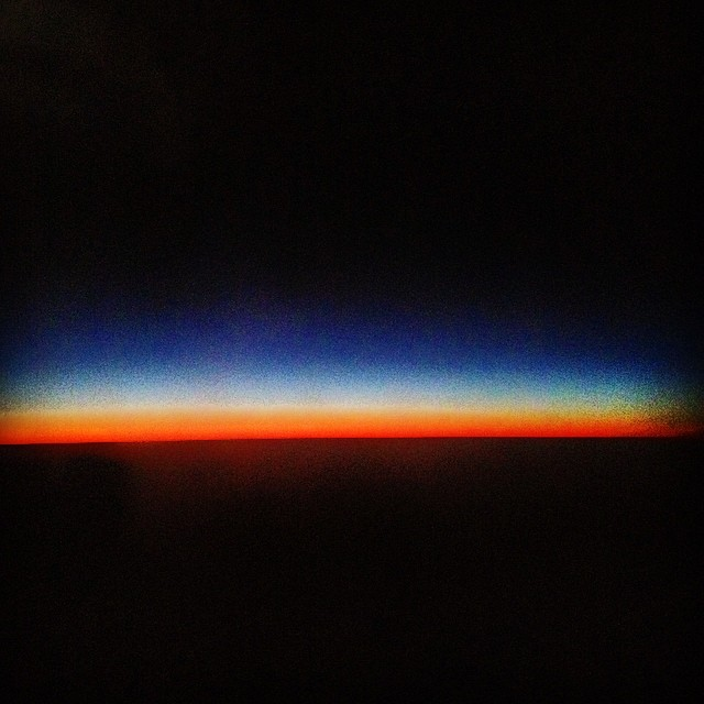 Twilight at 30,000 feet.  #sunset #twilight #beautiful #homebound #travels #beautiful #100happydays #itchyfeet #homecoming #night