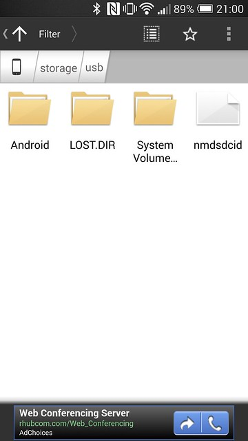 Astro File Manager Detected USB Drive