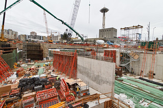 Lots of action at the SR 99 tunnel's north portal