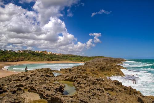 sky beach rocks puertorico playa rocas manati naturalpool marchiquita