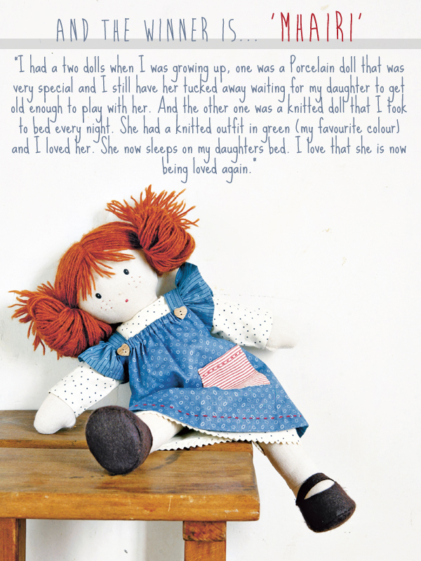 My Rag Doll giveaway winner! | Emma Lamb