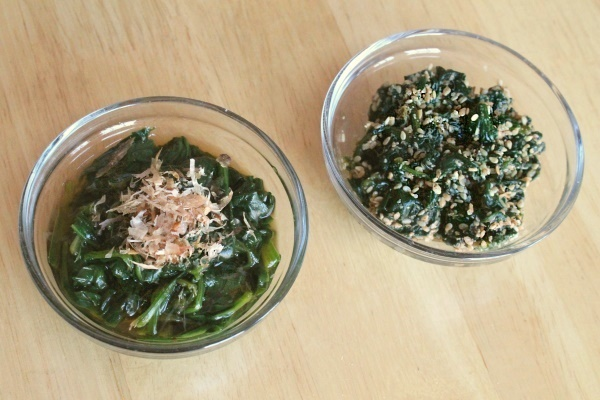 Spinach Ohitashi & Spinach Goma-ae