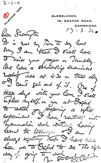 Adrian to Sherrington - 17 March 1924 (WCG 5.1b)