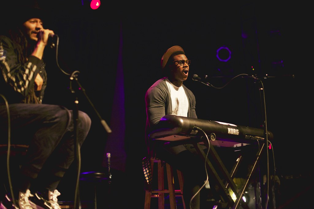 AZP's Zachary Watkins and Ishma Valenti at The Bourbon Theater - Take Cover | Jan. 30, 2015