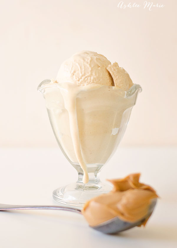 This custard based creamy peanut butter ice cream is perfect