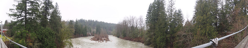 Jordan Bridge: Footbridge across the South Fork Stillaguamish River