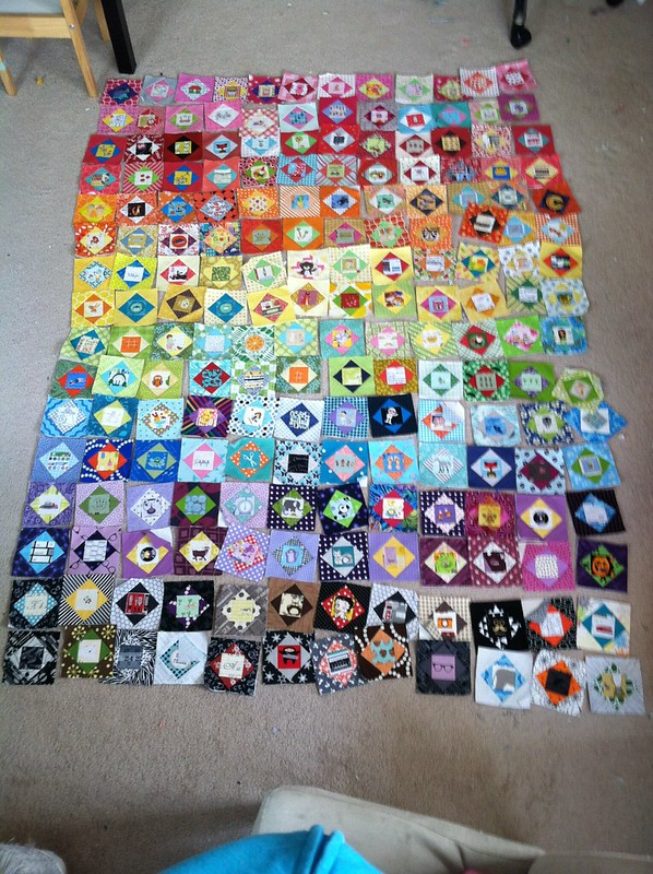 Fussy Square quilt front