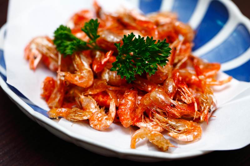 Deep Fried River Prawns