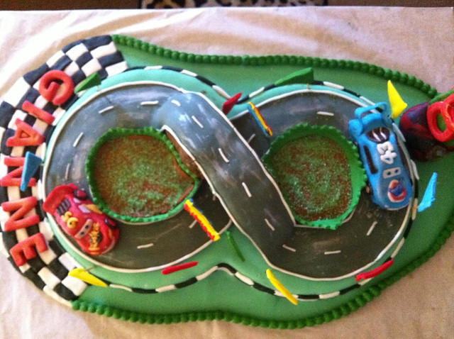 Race Car Track Cake by Thelma Briones-Pena of Sweets for Gifts