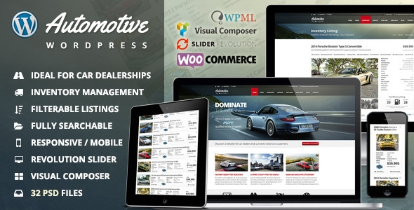 Automotive v6.6 – Car Dealership Business WordPress Theme