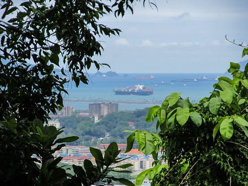 Panama City: joli porte-conteneurs !