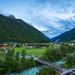 Austrian Alps Valley at Dusk
