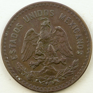 Coin photography - 1934 Mexico 5 cents