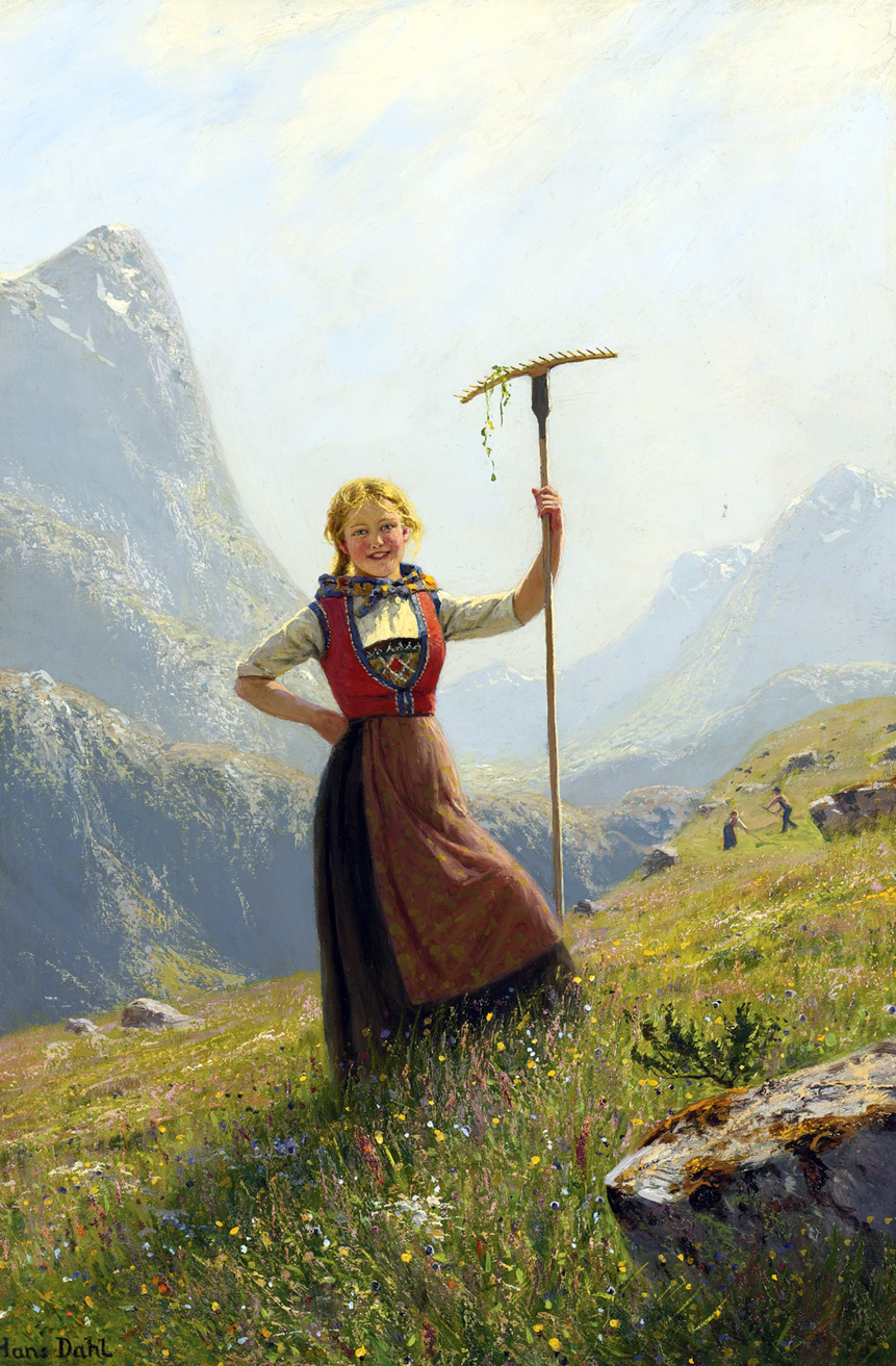 A summer day in the mountains by Hans Dahl