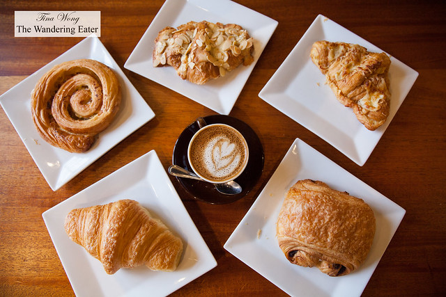 Pastries for breakfast and cappuccino