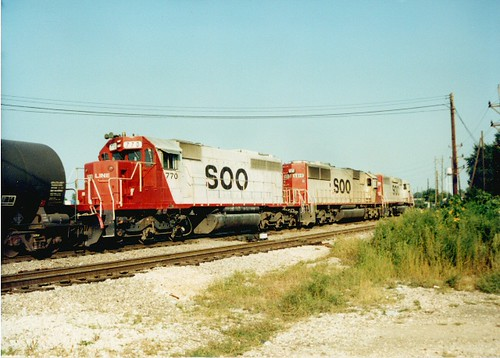 Eastbound Soo Line freight train passing through Hayford Junction.  Chicago Illinois.  Early September 1989. by Eddie from Chicago