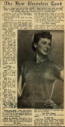 1951 knitted shell with lace insert