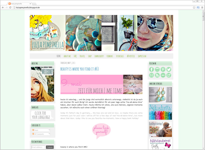 Blog-Makevoer / Frühjahrsputz bei luziapimpinella.de
