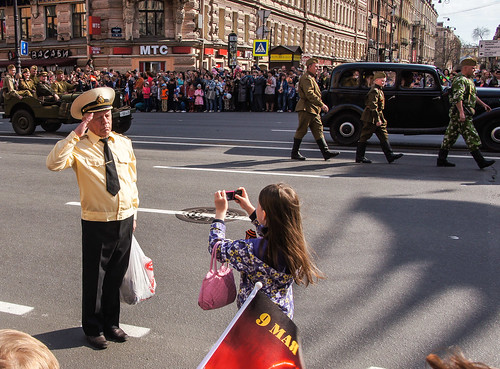 Parade on Nevskiy Prospekt