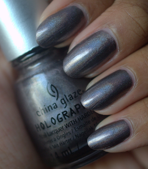 China Glaze Galatic Gray nail polish