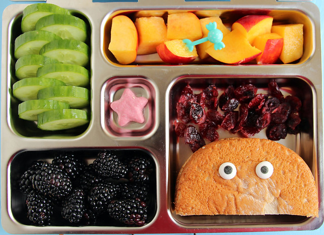 Preschool Google Eyes Sandwich Bento #445