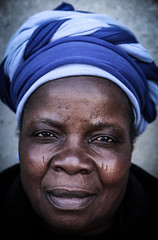 Woman portrait in Soweto (South Africa)