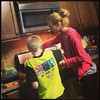 Liam helping @jnascott making secret recipe  #Friendys hot fudge sauce!