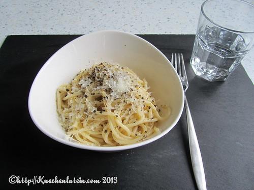 Spaghetti Cacio e quattro Pepe