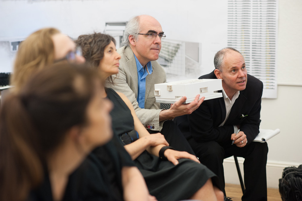 Kent Kleinman, Mark Cruvellier, and visiting critics.